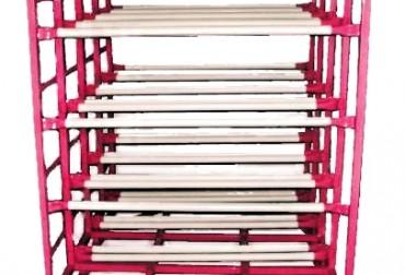 Rack pentru transportul si depozitarea a 32 bidoane de apa